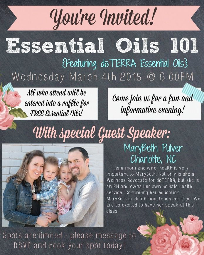 Doterra Essential Oil Class Invitation Unique This is A Fun Flyer I Made Using Picmonkey I Will