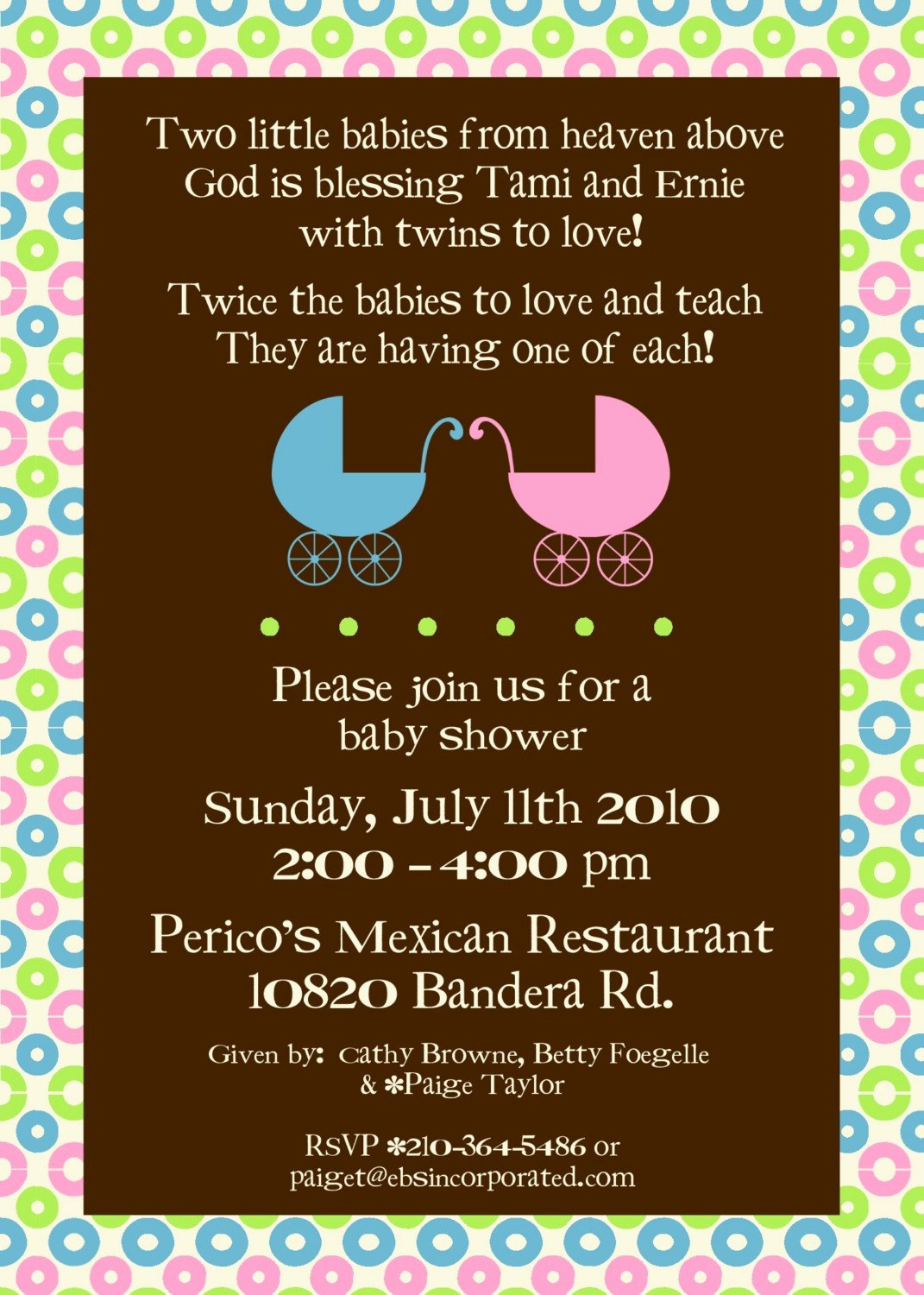 Double Baby Shower Invitation Wording Awesome Twin Carriage or Owl Baby Shower Invitation Visit My Shop to
