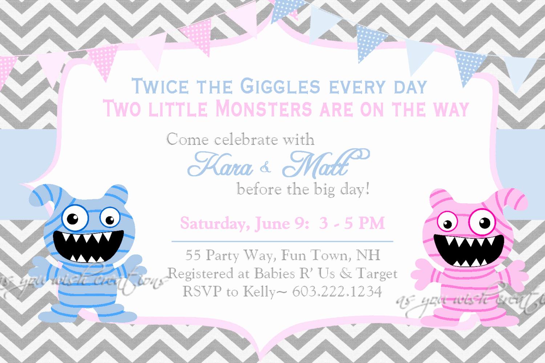 Double Baby Shower Invitation Wording Beautiful Double Baby Shower Invitations Wording • Baby Showers Ideas