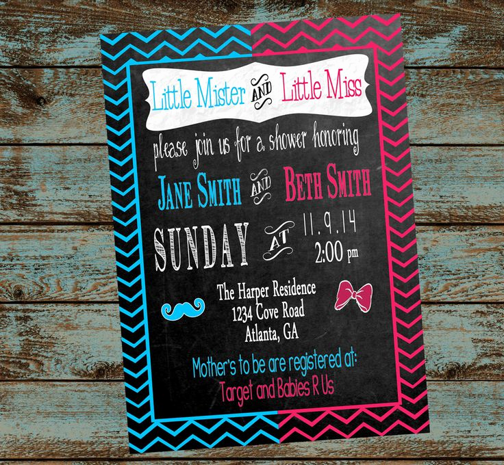 Double Baby Shower Invitation Wording Best Of Double Baby Shower Invitations Party Xyz