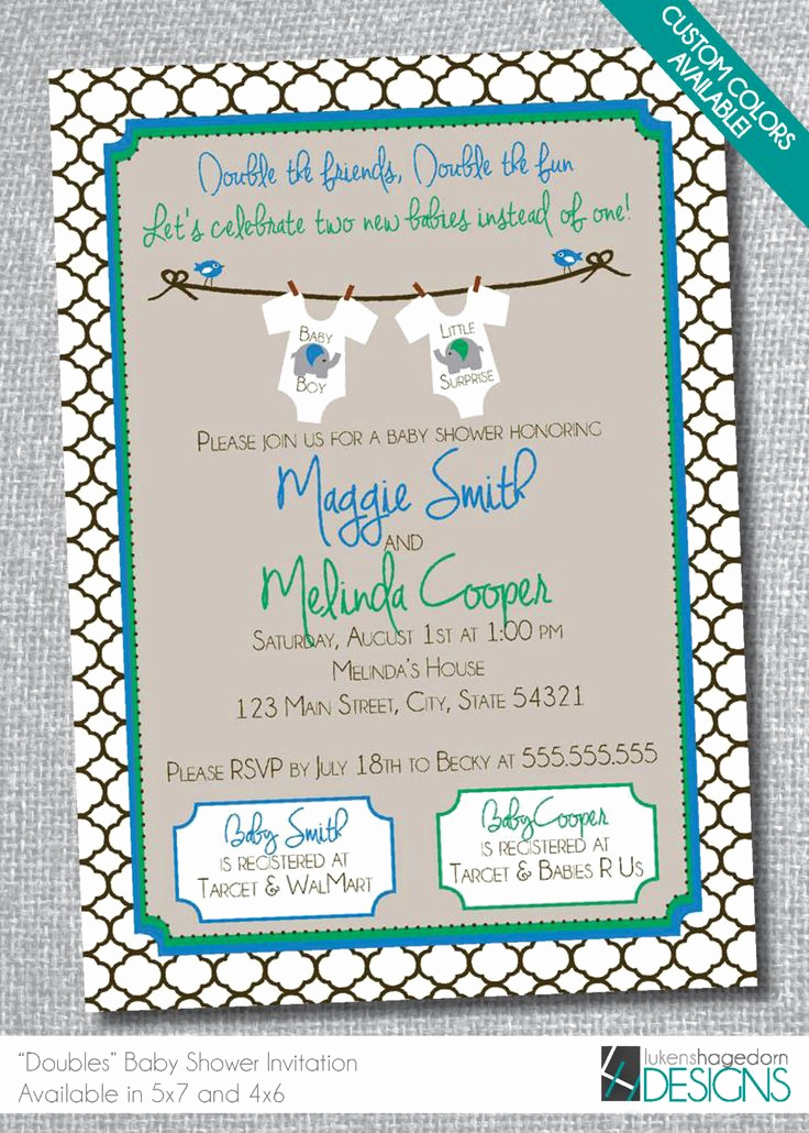 Double Baby Shower Invitation Wording Fresh Best 25 Double Baby Showers Ideas On Pinterest