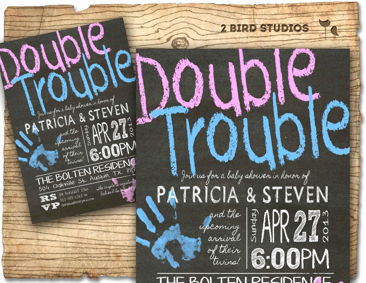 Double Baby Shower Invitation Wording Lovely Twins Baby Shower Invitation Twins Double Trouble Baby