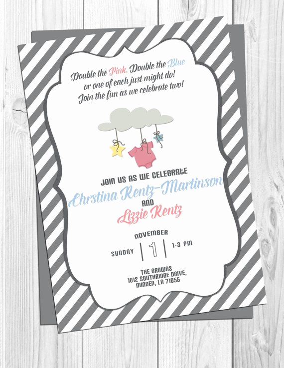 Double Baby Shower Invitation Wording New Best 25 Double Baby Showers Ideas On Pinterest