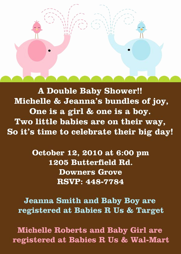 Double Baby Shower Invitation Wording Unique 25 Best Ideas About Joint Baby Showers On Pinterest