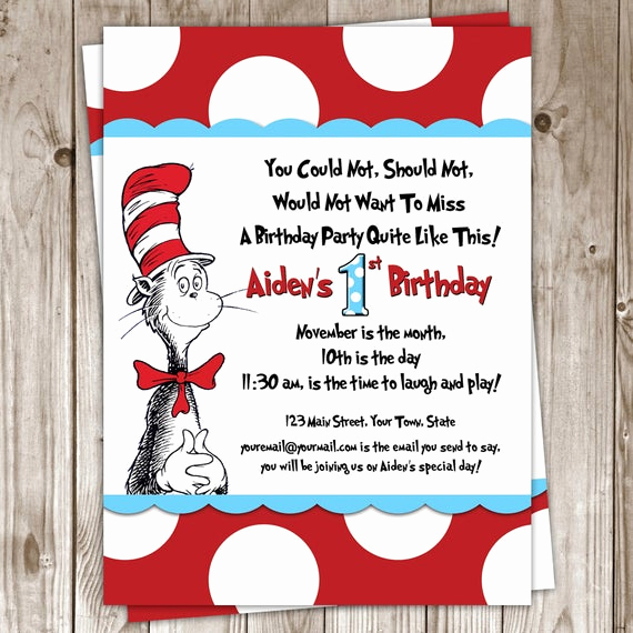 Dr Seuss Birthday Invitation Best Of Items Similar to Dr Seuss Birthday Invitation On Etsy