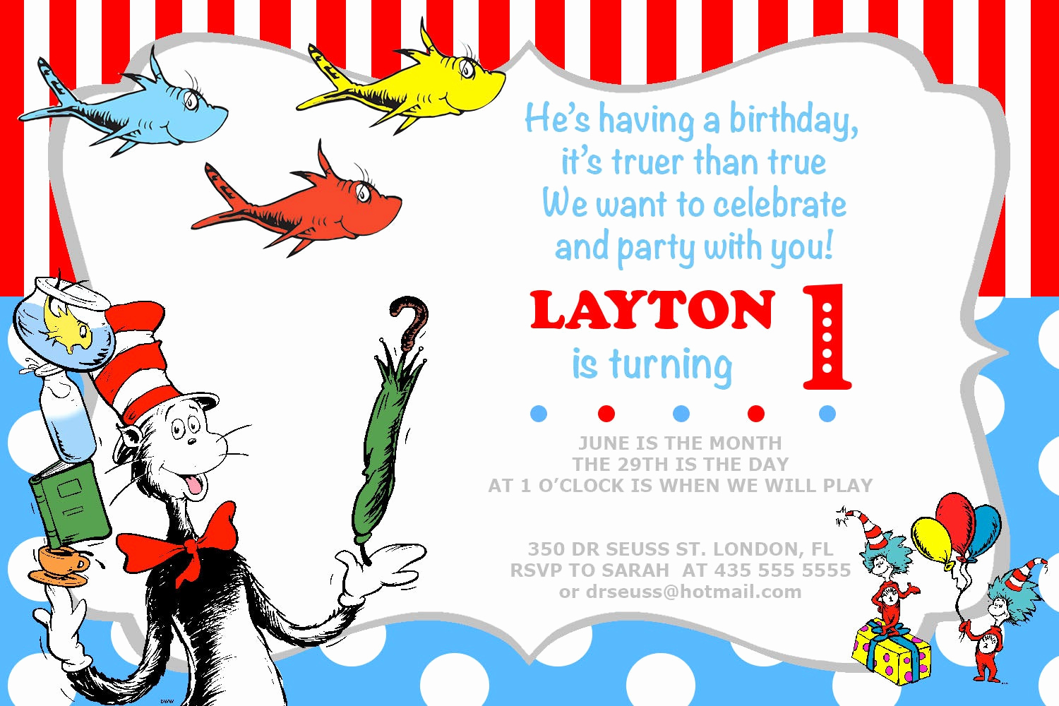 Dr Seuss Birthday Invitation Elegant Dr Seuss Invitation Birthday Party Invites Printable Photo