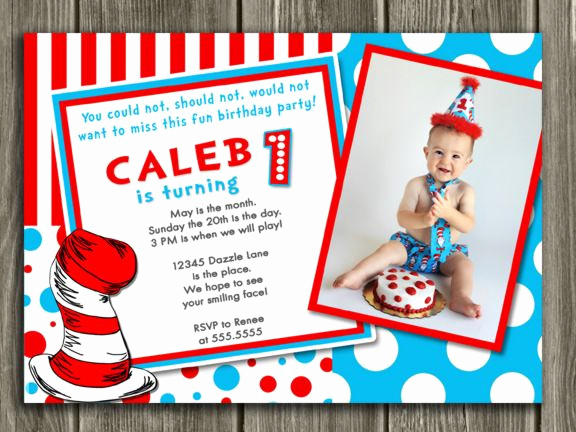 Dr Seuss Birthday Invitation Inspirational 17 Best Images About Dr Seuss Inspired Birthday Party On
