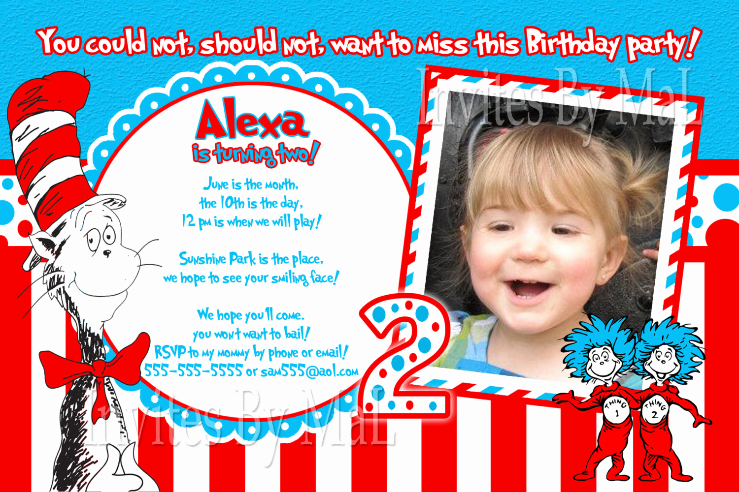 Dr Seuss Birthday Invitation New Sale Dr Seuss Party Invitation Birthday Baby by Invitesbymal