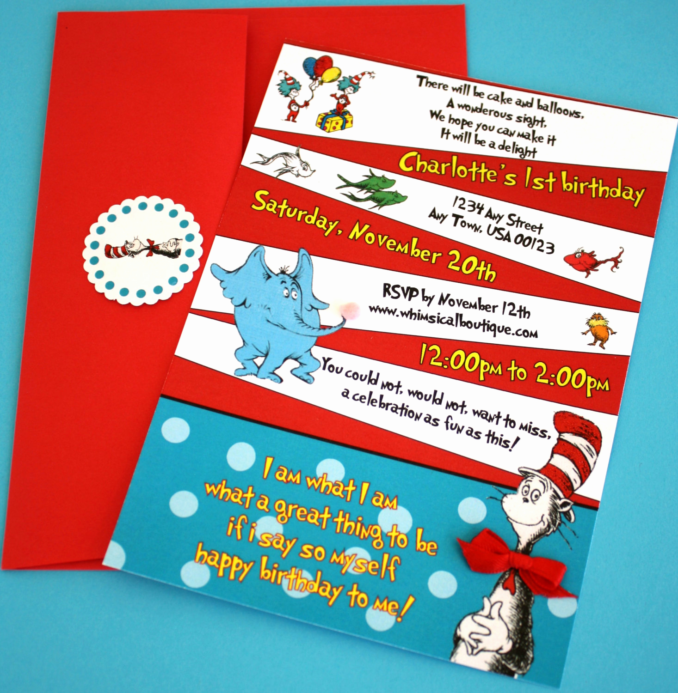 Dr Seuss Invitation Template Best Of Party City Dr Seuss Baby Image