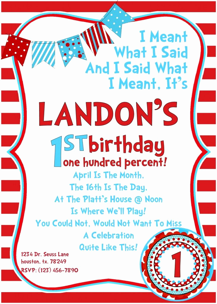 Dr Seuss Invitation Template Free Awesome Dr Seuss Birthday Invitations March is the Month the 13th