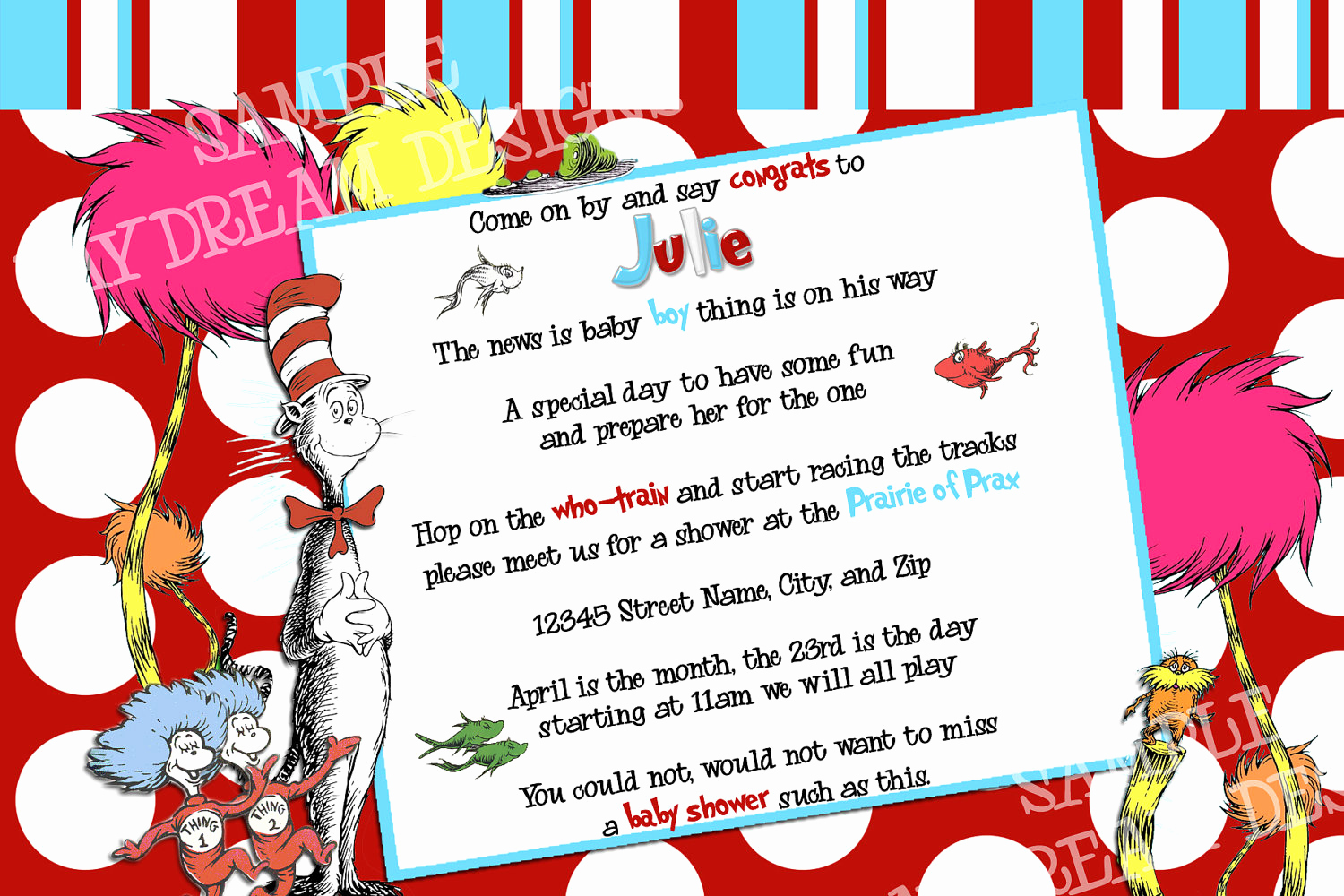 Dr Seuss Invitation Template Free Awesome Dr Seuss Birthday Invitations Wording