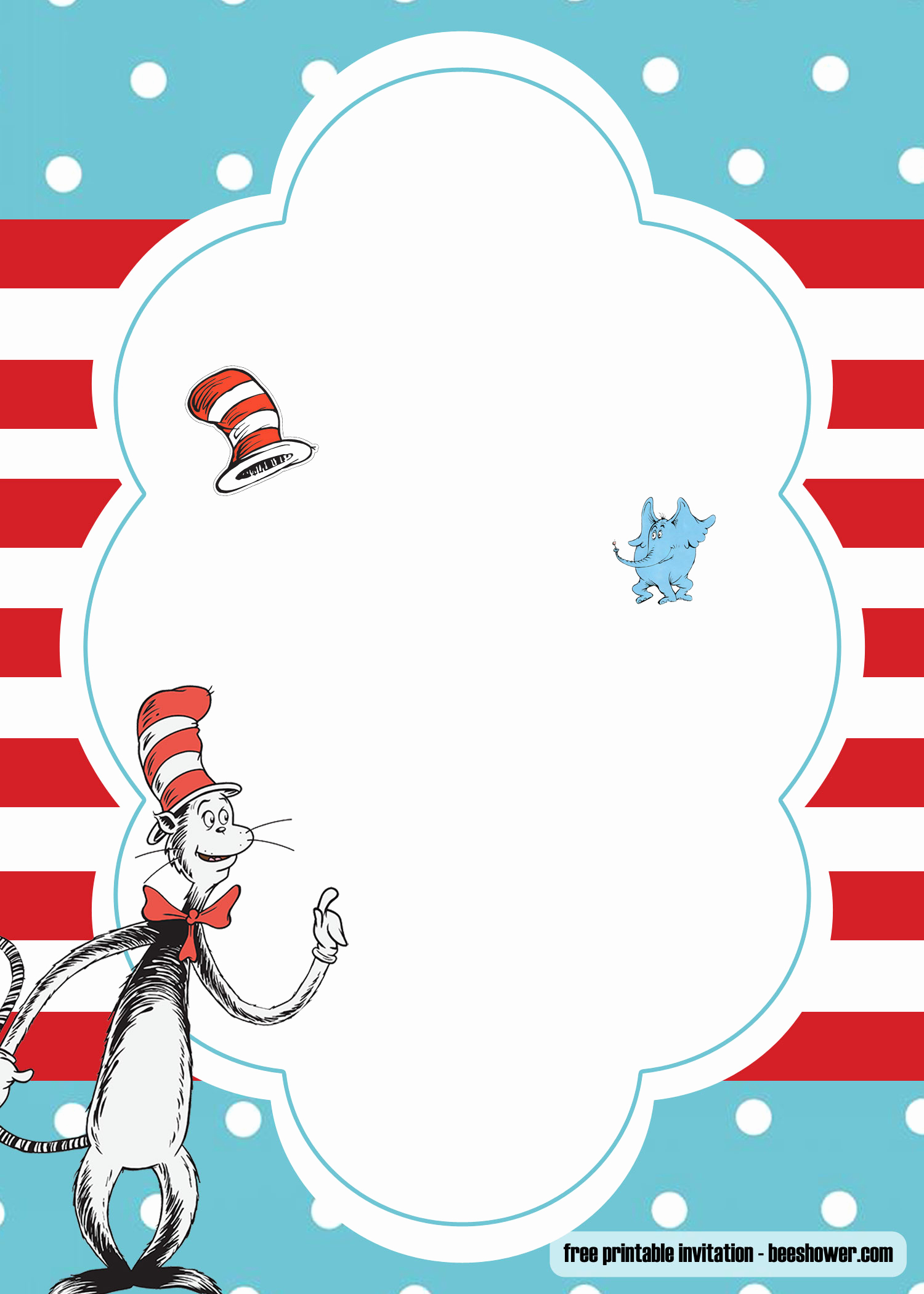 Dr Seuss Invitation Template Free Beautiful Free Dr Seuss Template for Your Baby Shower Invitations