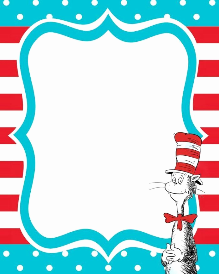 Dr Seuss Invitation Template Free Fresh Dr Seuss Free Printable Invitation Templates