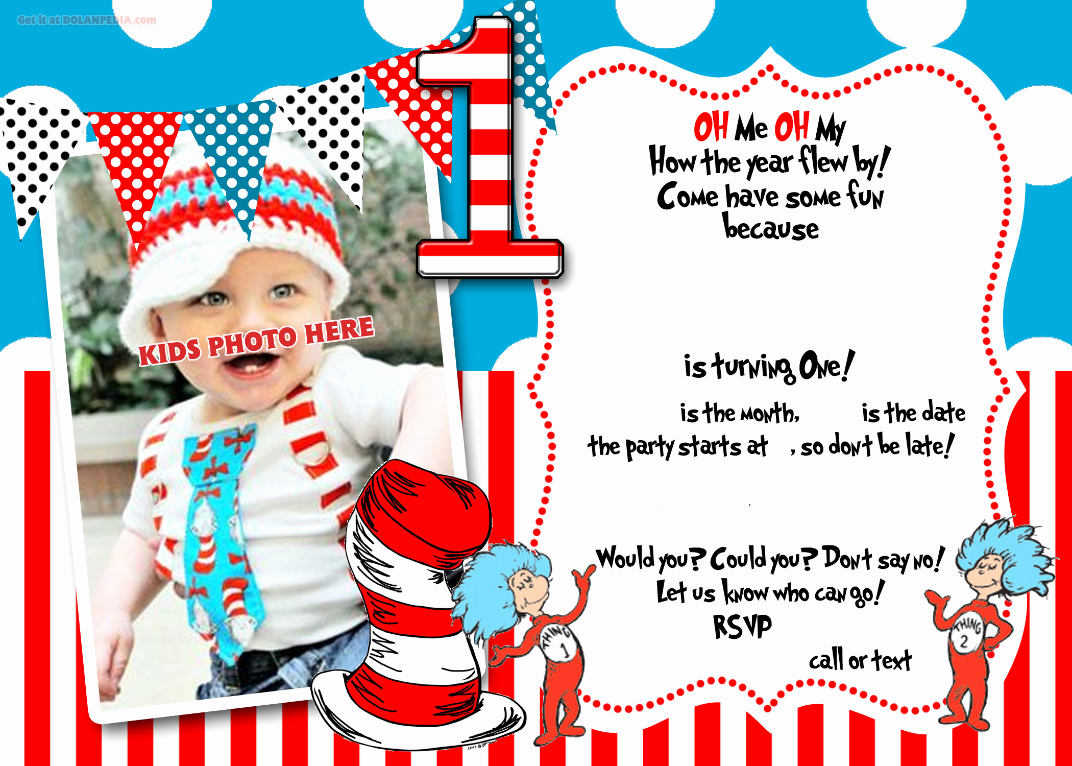 Dr Seuss Invitation Template Free Fresh Free Printable Dr Seuss 1st Birthday Invitation Template
