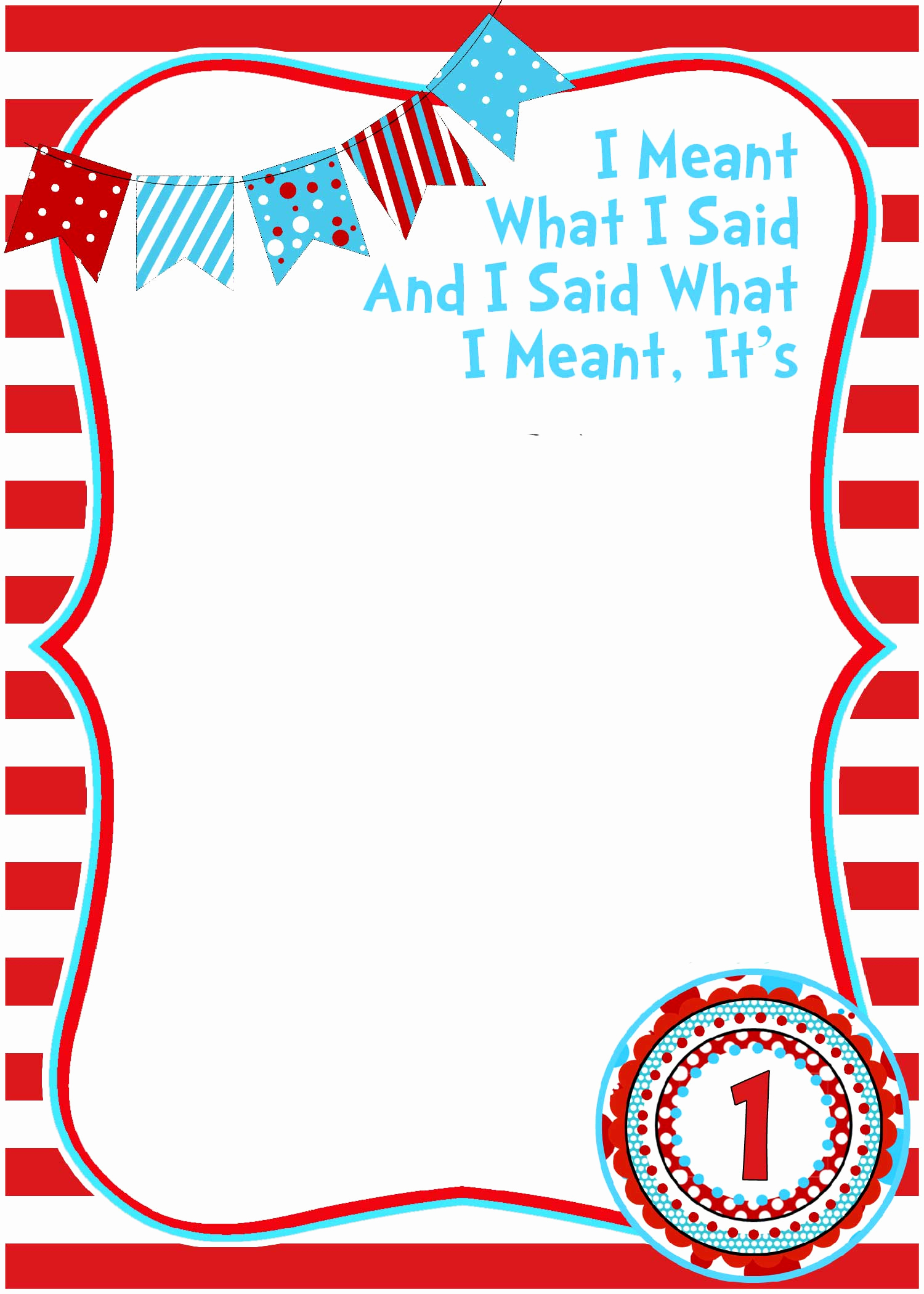 Dr Seuss Invitation Template Free Fresh Free Printable Dr Seuss Birthday Invitations Free