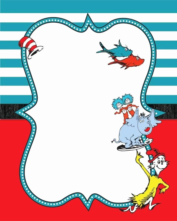 Dr Seuss Invitation Template Free Inspirational Image Result for Dr Seuss Printable Border