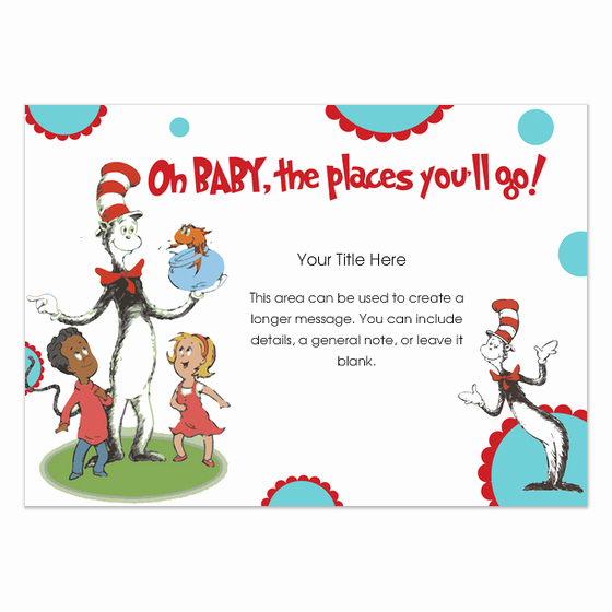 Dr Seuss Invitation Template Free Lovely Dr Seuss Baby Invitations & Cards On Pingg