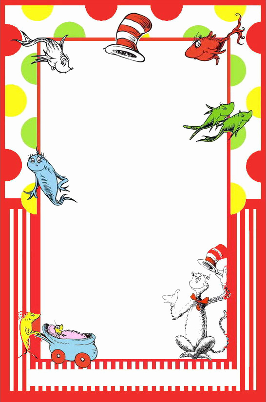 Dr Seuss Invitation Template Free New Dr Seuss Free Printable Invitation Templates