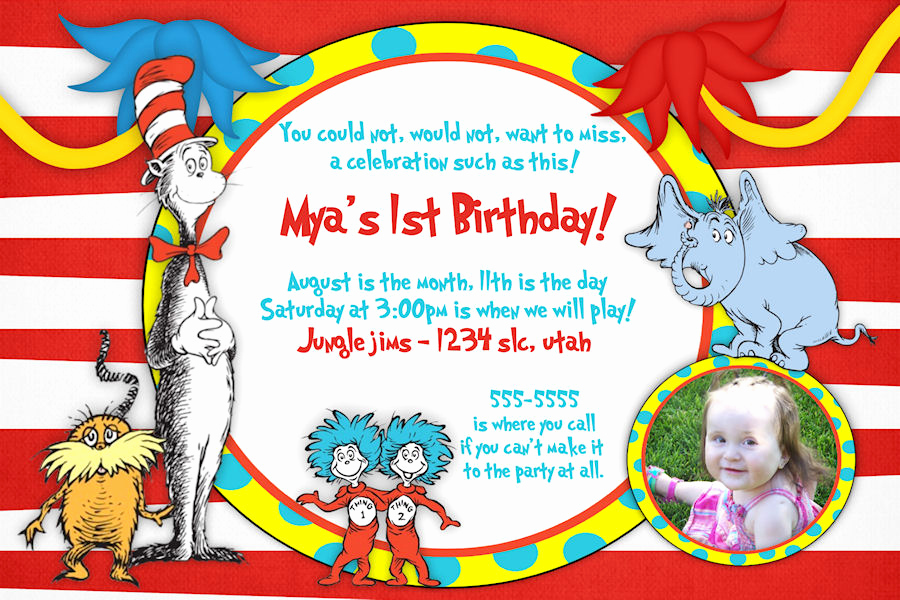 Dr Seuss Invitation Template Free Unique Free Printable Dr Seuss Birthday Invitations Free