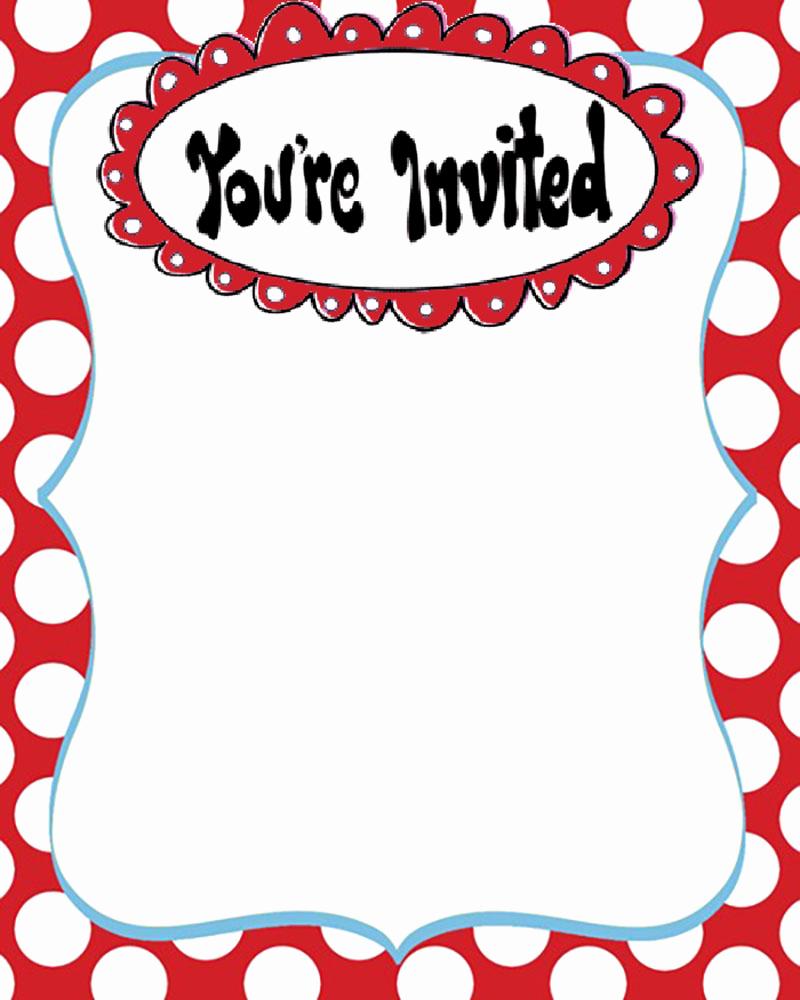 Dr Seuss Invitation Template Fresh Dr Seuss Free Printable Invitation Templates