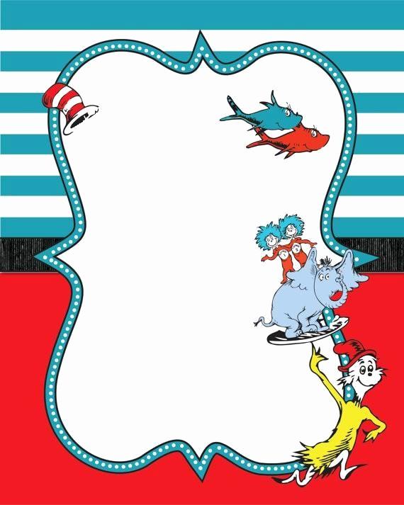 Dr Seuss Invitation Template Inspirational Image Result for Dr Seuss Printable Border