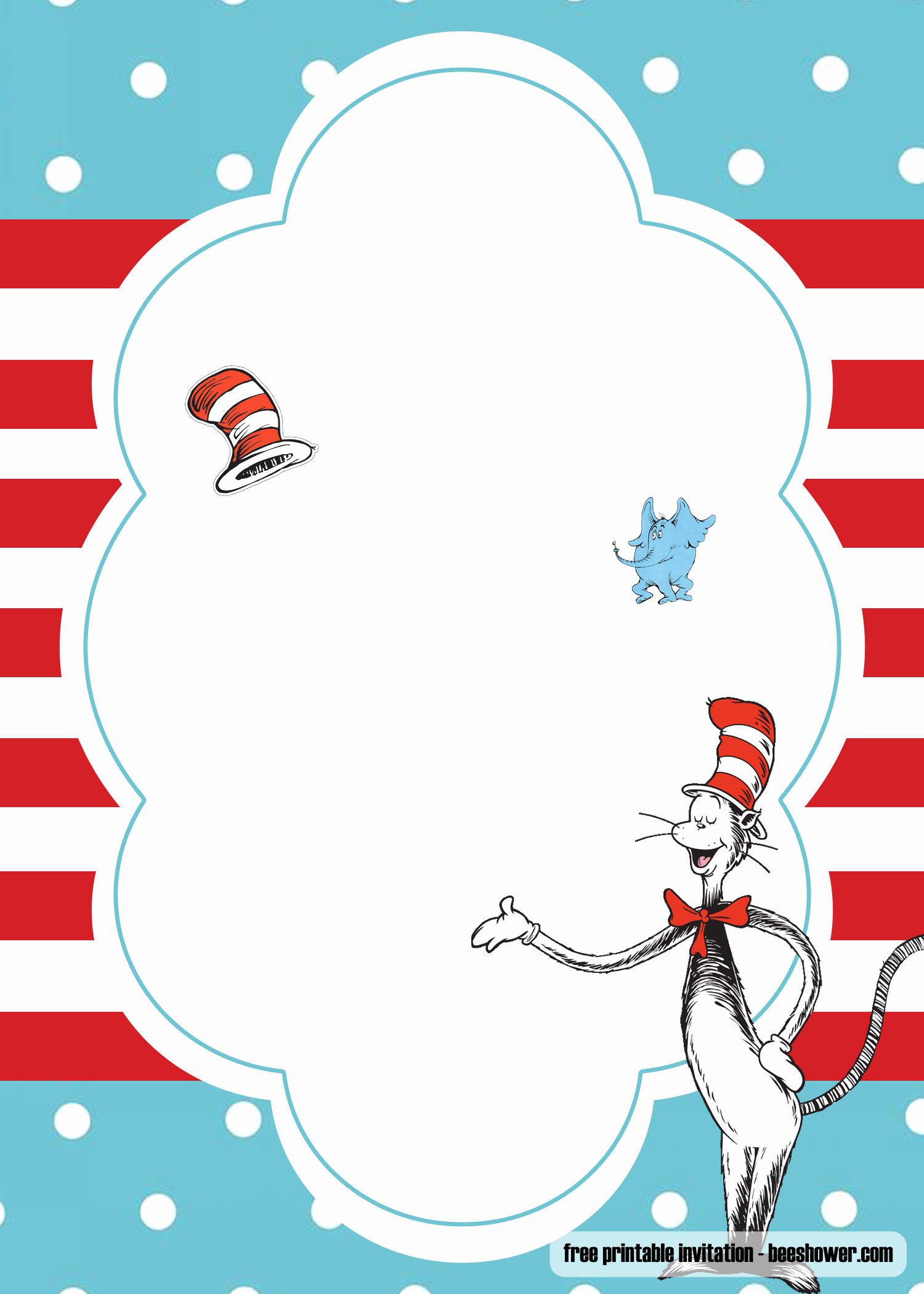 Dr Seuss Invitation Template Lovely Free Dr Seuss Template for Your Baby Shower Invitations