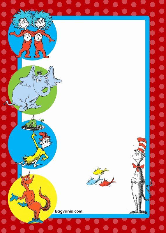 Dr Seuss Invitation Template Unique Dr Seuss Birthday Invitations Printables – Bagvania Free