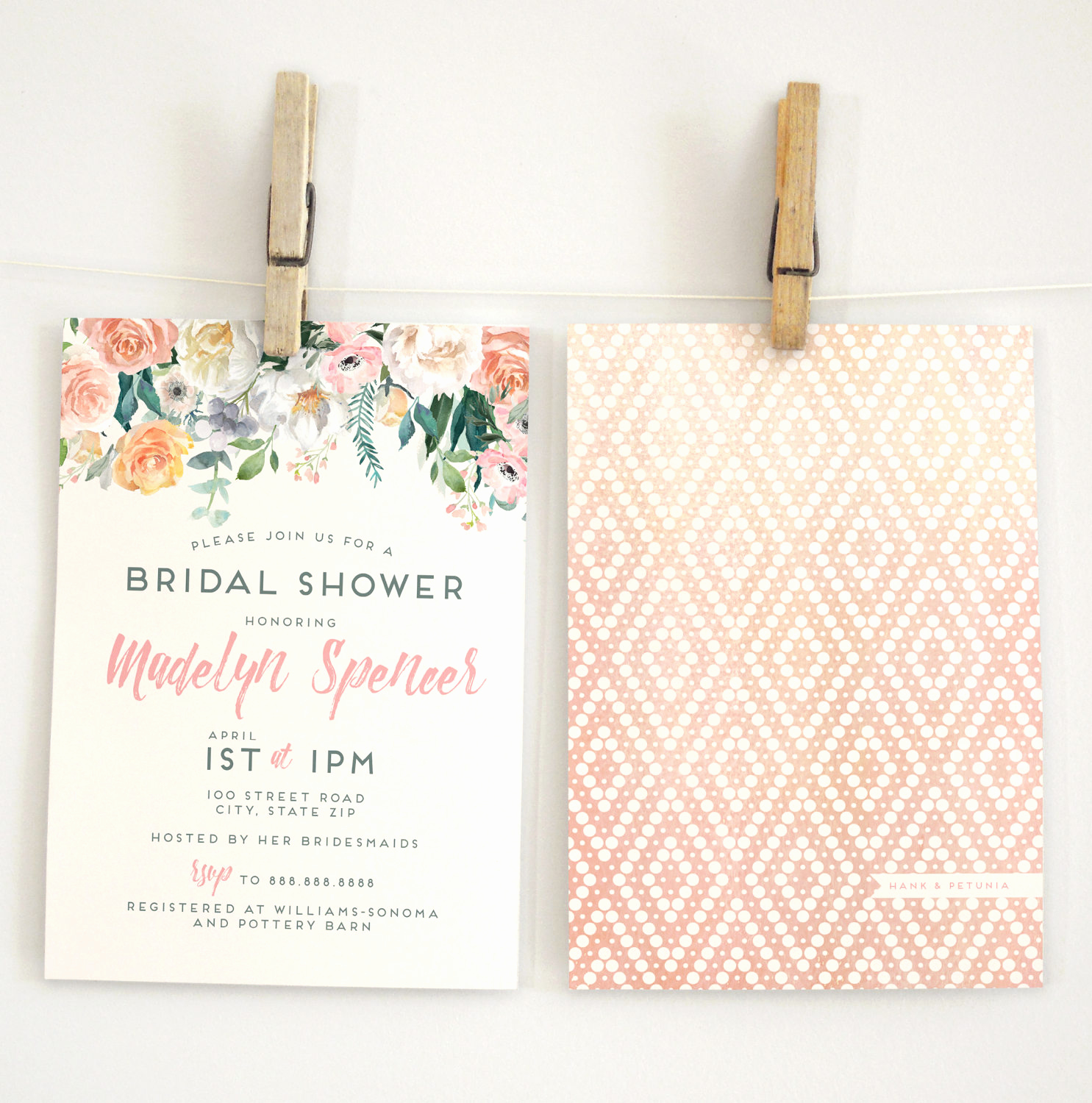 Drop In Shower Invitation Wording Beautiful Watercolor Boho Floral Drop Bridal Shower Invitation