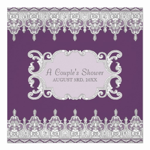 Drop In Shower Invitation Wording Best Of Vintage Tear Drop Lace Plum Grey Bridal Shower 5 25x5