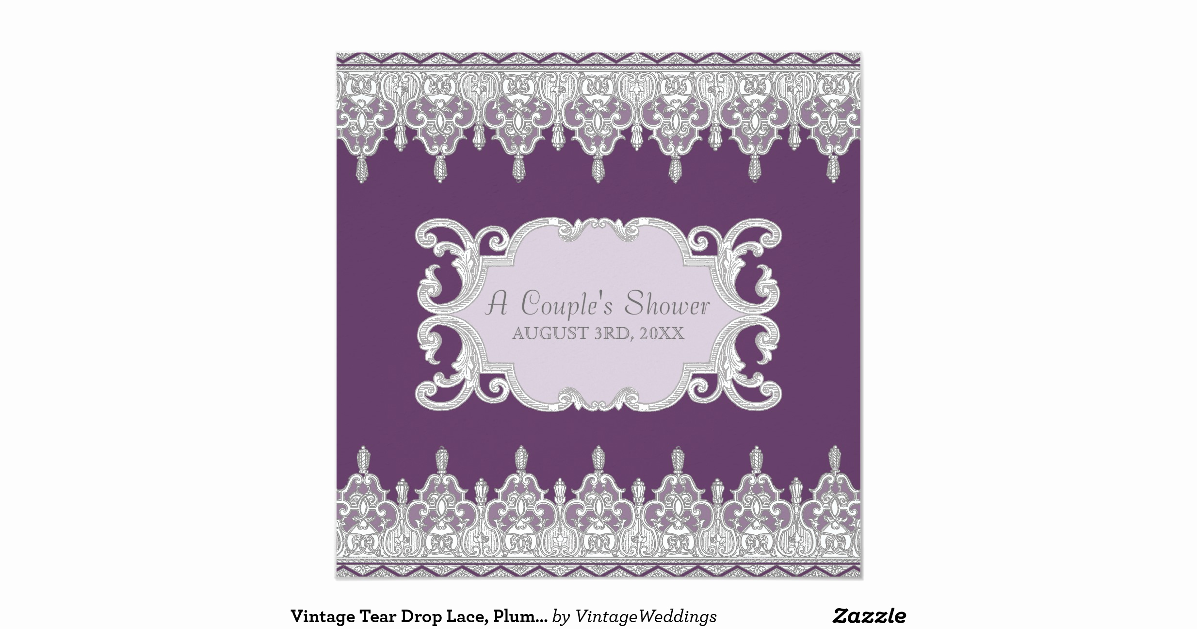 Drop In Shower Invitation Wording Fresh Vintage Tear Drop Lace Plum Grey Bridal Shower Invitation