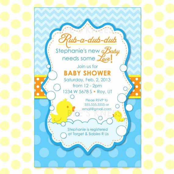 Duck Baby Shower Invitation Templates Elegant Rubber Duck Baby Shower Invitation Rubber by