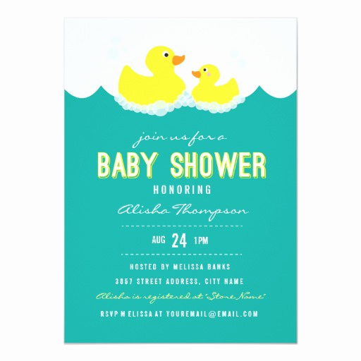 Duck Baby Shower Invitation Templates Lovely Rubber Ducky Baby Shower Invitation