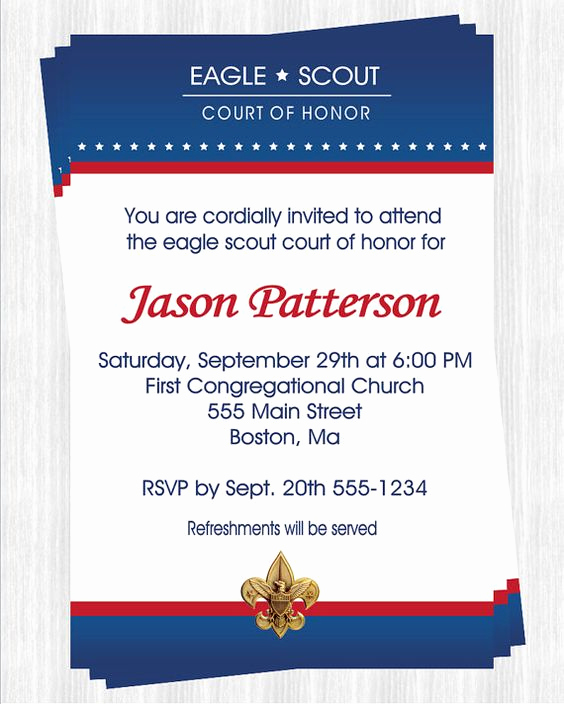 Eagle Scout Invitation Ideas Awesome Eagle Scout Court Of Honor Invitations by