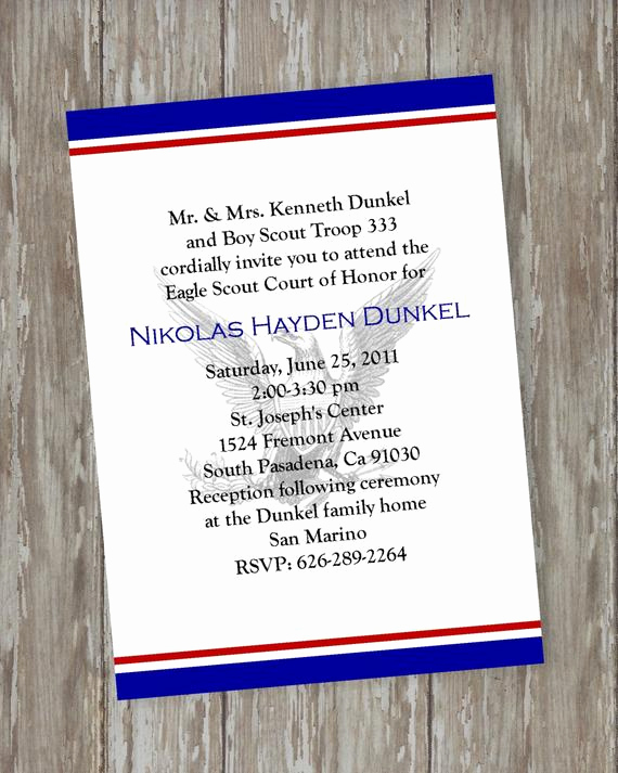 Eagle Scout Invitation Ideas Beautiful Eagle Scout Court Of Honor Invitations by Itsallaboutthecards