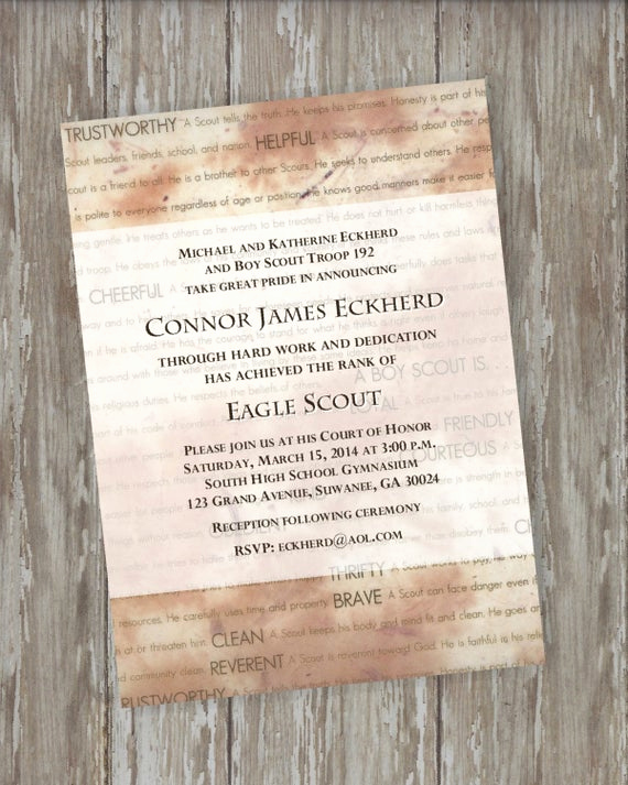 Eagle Scout Invitation Ideas Elegant Eagle Scout Invitations Traditions Design by