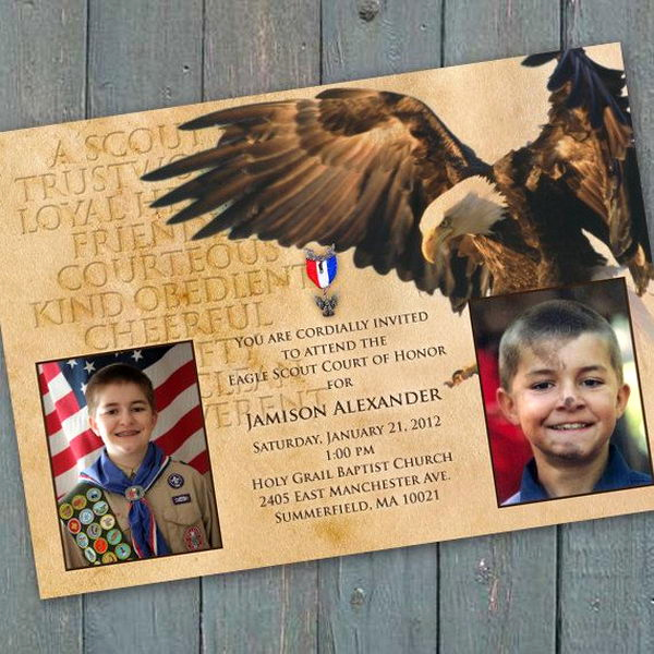 Eagle Scout Invitation Ideas Inspirational 10 Cool Eagle Scout Invitations Hative