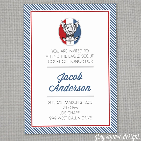 Eagle Scout Invitation Ideas Inspirational Eagle Scout Court Of Honor Invitation