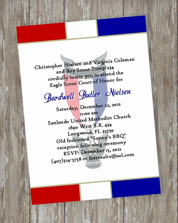 Eagle Scout Invitation Ideas Lovely Eagle Scout Court Of Honor Invitations Prepared White