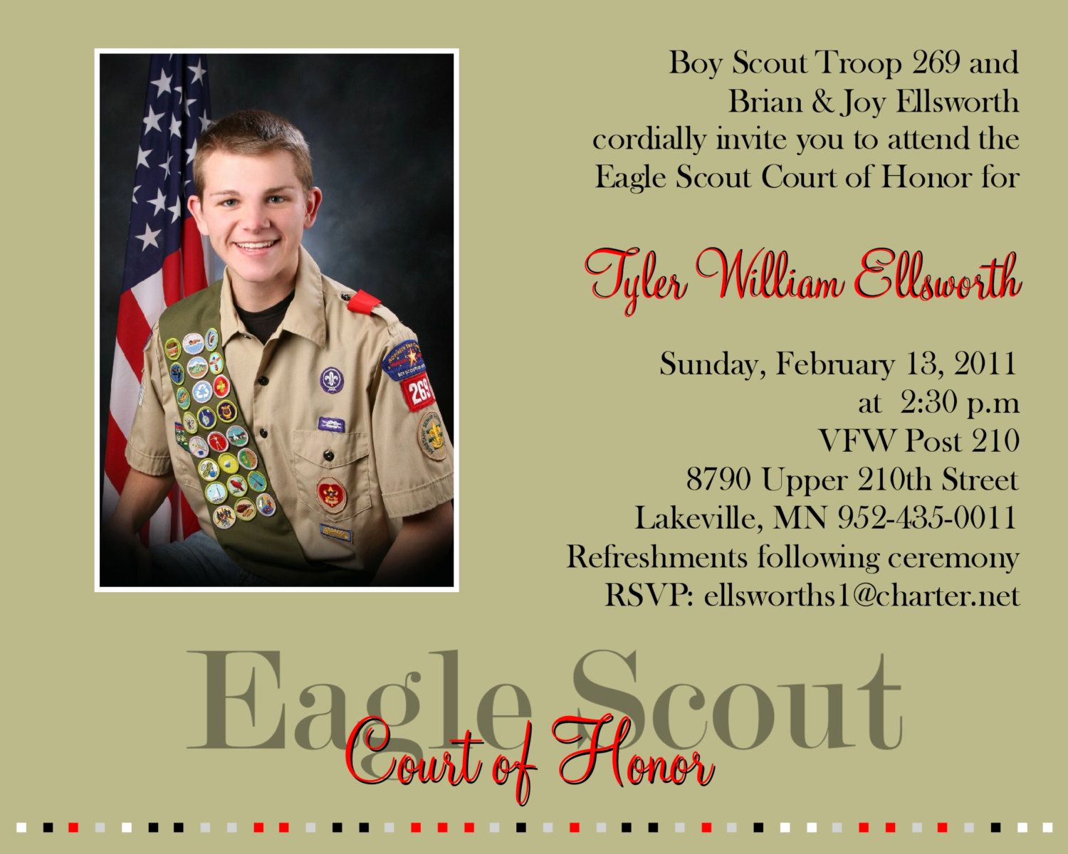 Eagle Scout Invitation Ideas Luxury Eagle Scout Court Of Honor Invitations by