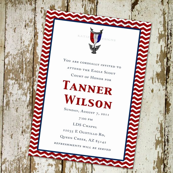 Eagle Scout Invitation Ideas New Eagle Scout Court Of Honor Graduation Invitation Patriotic