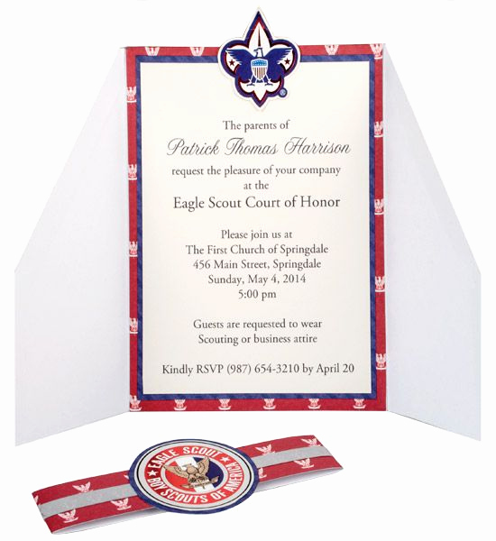 Eagle Scout Invitation Ideas New Eagle Scout Court Of Honor Invitations