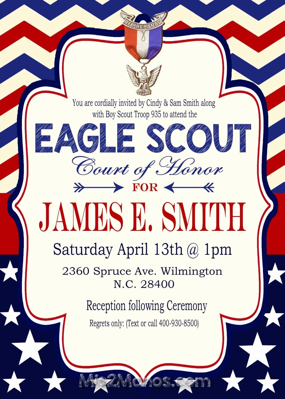 Eagle Scout Invitation Template New Eagle Scout Invitation Court Of Honor Invitation Boy Scout