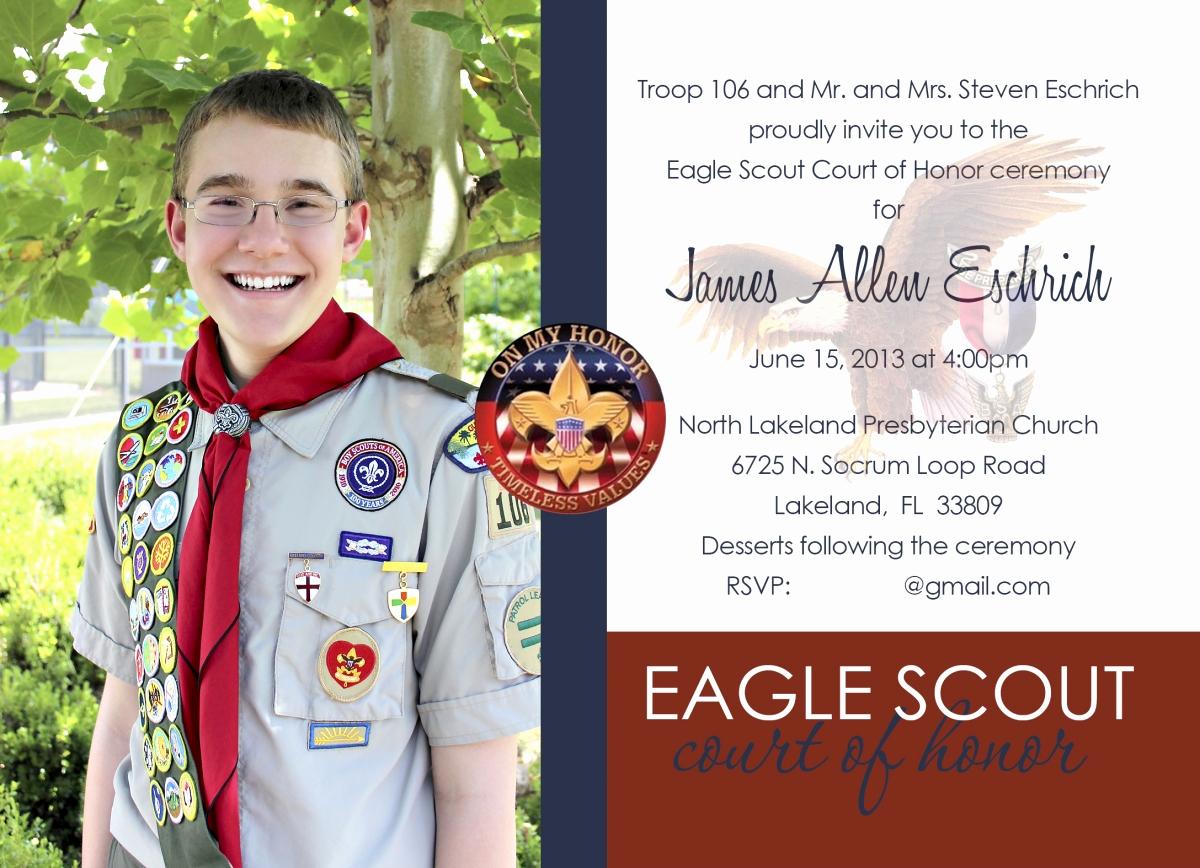 Eagle Scout Invitation Template Unique Eagle Scout Court Of Honor Invitation Gilmore Studios