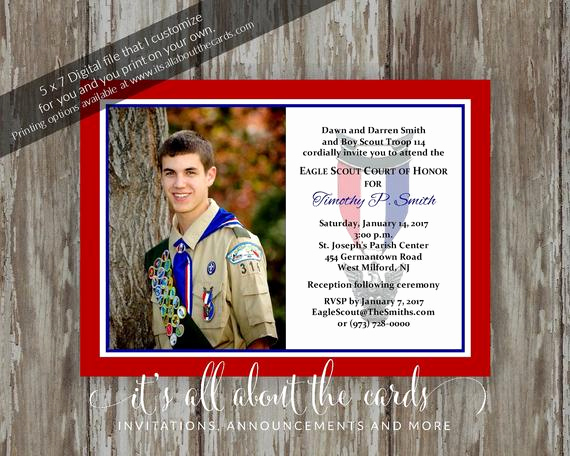Eagle Scout Invitation Wording Awesome Eagle Scout Court Of Honor Invitations Simple Honors Border