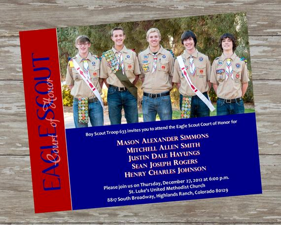 Eagle Scout Invitation Wording Best Of Eagle Scout Court Of Honor Invitations by Itsallaboutthecards