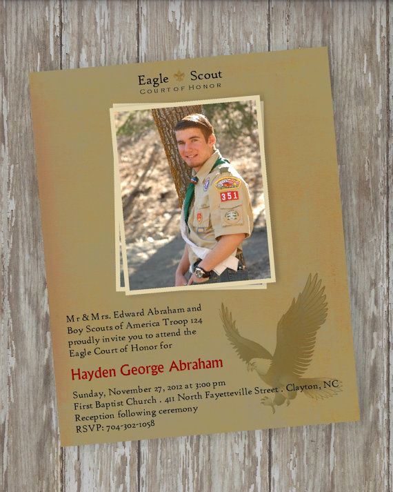 Eagle Scout Invitation Wording Best Of Eagle Scout Court Of Honor Invitations Vintage Scout