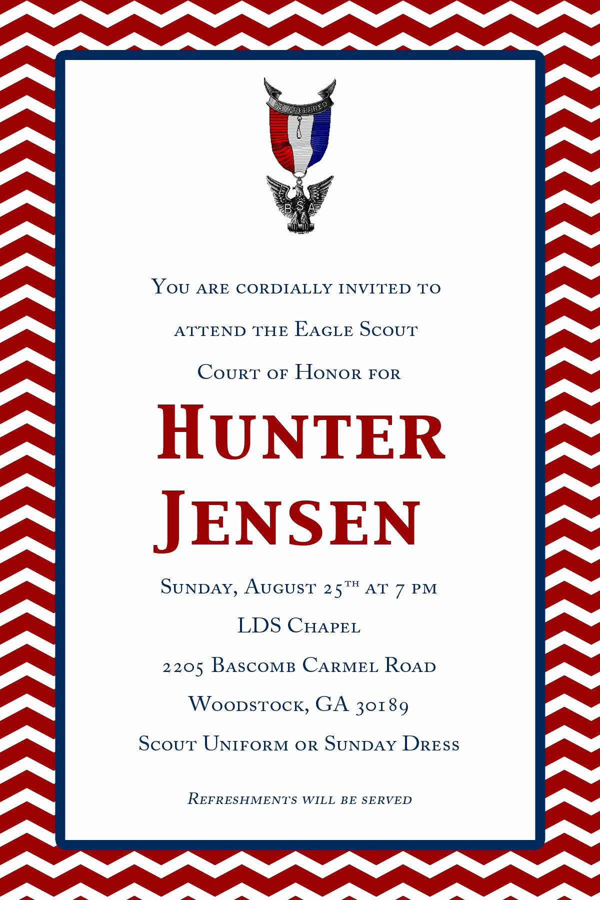 Eagle Scout Invitation Wording Elegant Hunters Eagle Court Of Honor Invites Off Etsy