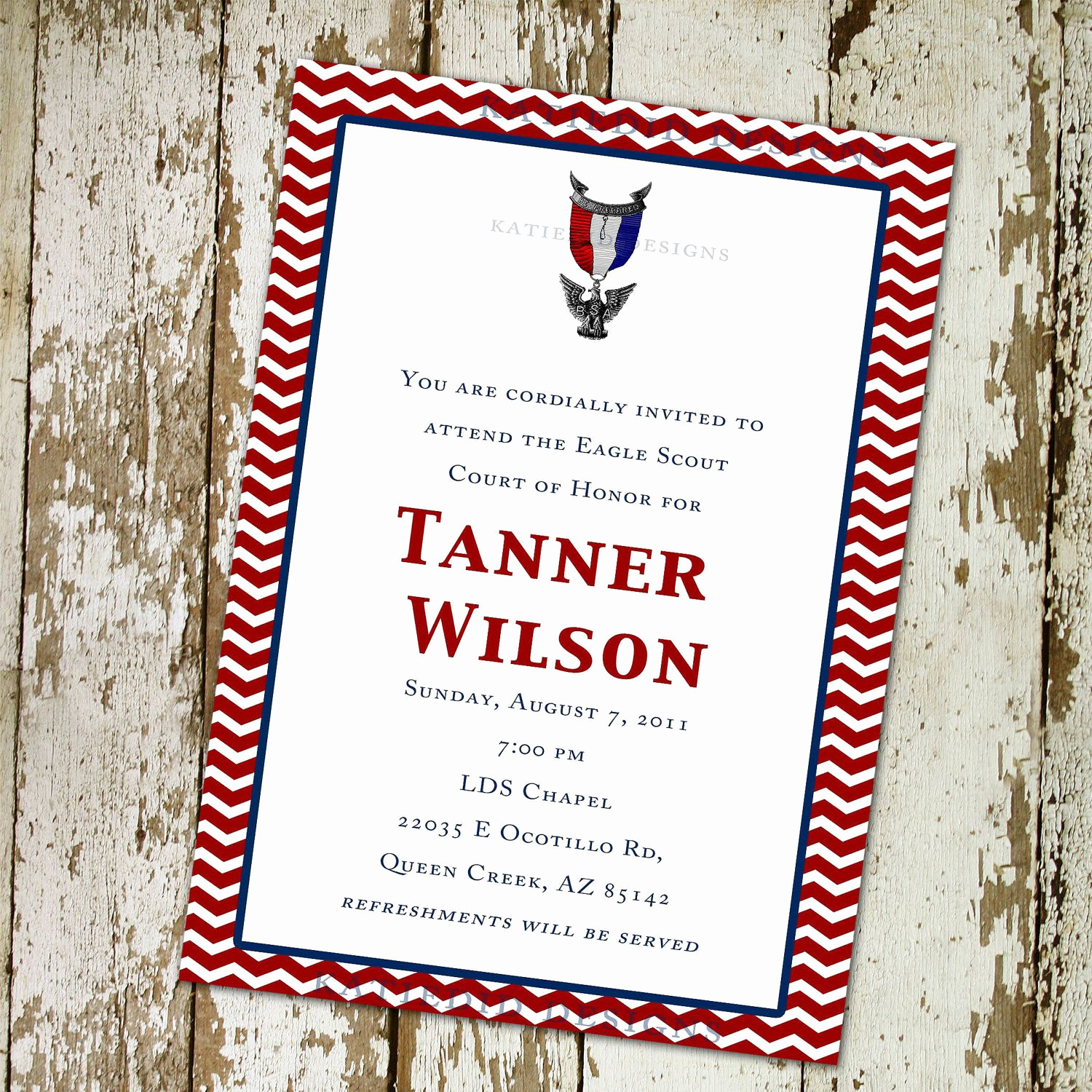 Eagle Scout Invitation Wording Fresh Eagle Scout Court Of Honor Graduation Invitation Patriotic