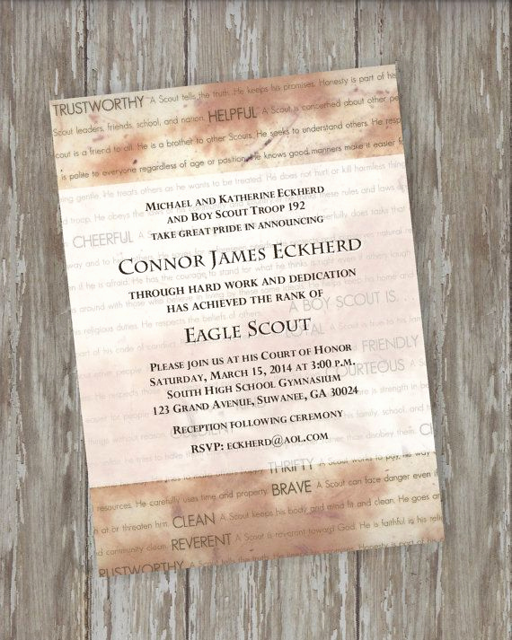 Eagle Scout Invitation Wording Inspirational 10 Images About Scouts Eagle Scout Invitations On