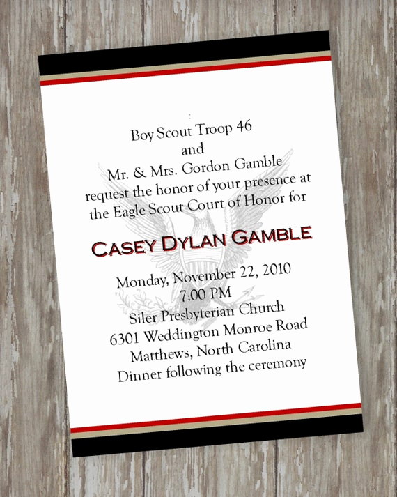 Eagle Scout Invitation Wording Inspirational Eagle Scout Court Of Honor Invitations by Itsallaboutthecards